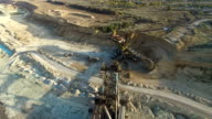 Flying over the iron ore quarry video