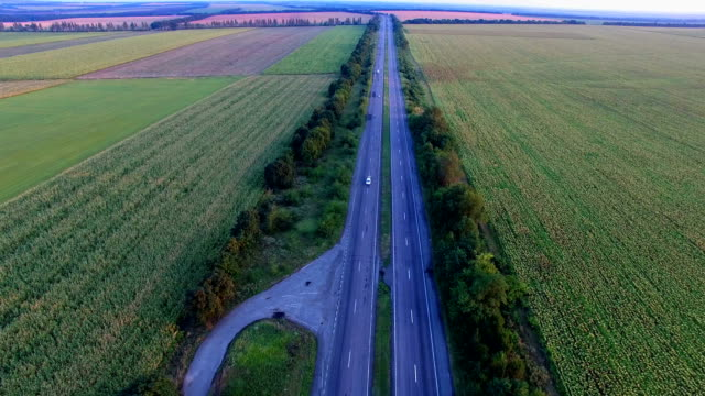 Flying Over The Road Highways video