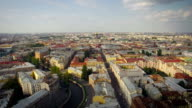 flying over the roofs of Saint-Petersburg video