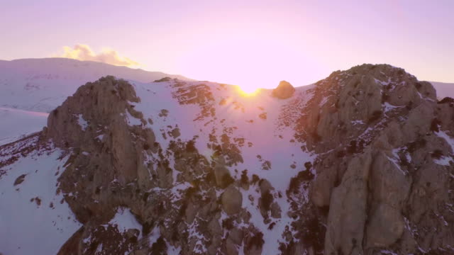 Flying Over the Snowy Mountain video