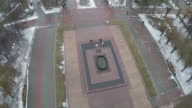 Flying over the Square of Fallen Soldiers, Volgograd video