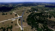 flying over the top of a Wind Turbine video