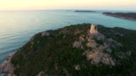 AERIAL: Flying over watchtower bay video