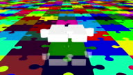 Flying puzzle piece in white on various colors video