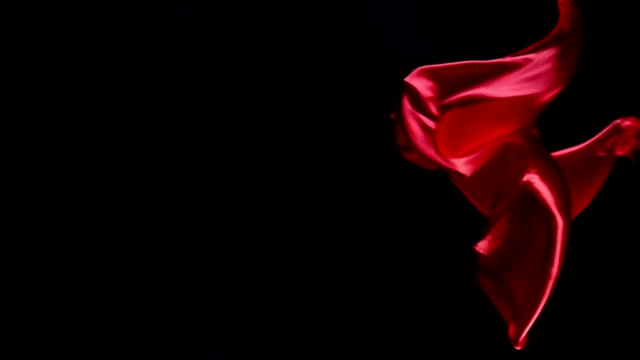 Flying red fabric video