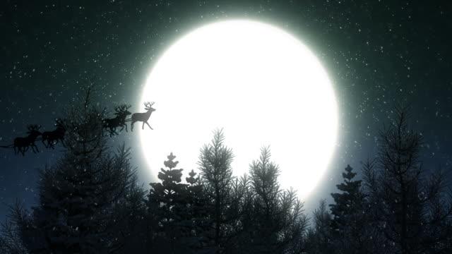 Flying Santa Claus on Christmas Night video