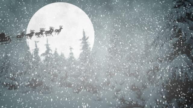 Flying Santa Claus video