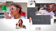 Flying short clips about lab assistants video