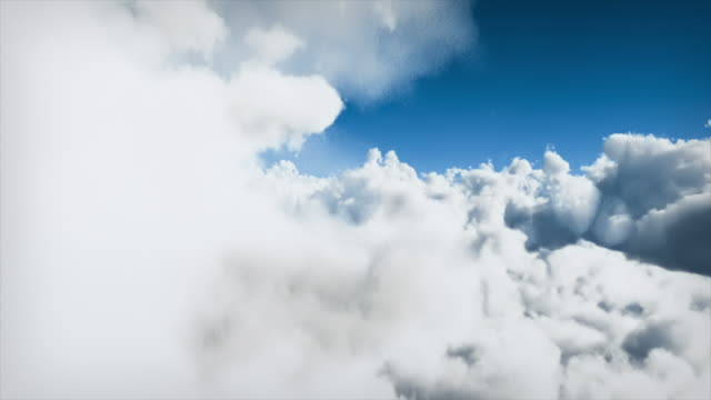 Flying through clouds - loopable video