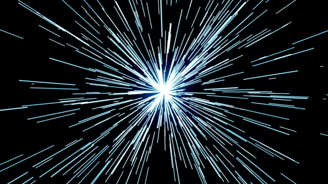 Flying through hyper space video