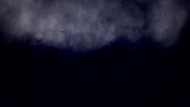 Flying Through Rain Storm HD video