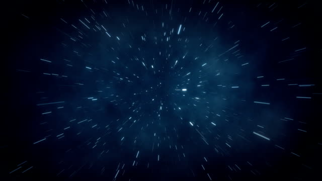 Flying through space. Warp Speed. video