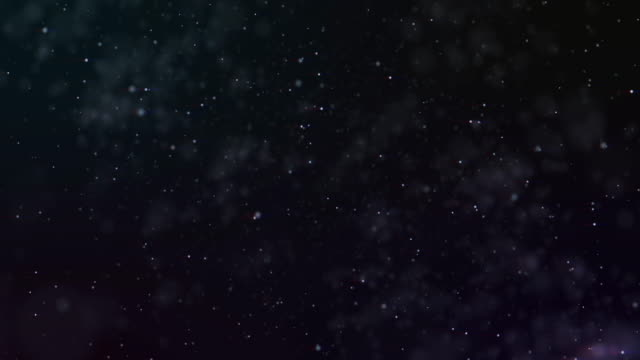 Flying through star fields in space video
