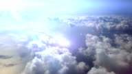 Flying through the Clouds. HD video