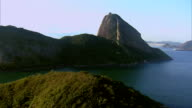 Flying towards Sugarloaf Mountain, Rio de Janeiro, Brazil video