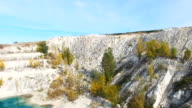 AERIAL: Flying towards the limestone quarry video