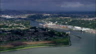 Flying Up River Lee Towards Cork  - Aerial View - Munster, Cork, Ireland video