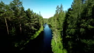 Flyover River in Boreal Forest video