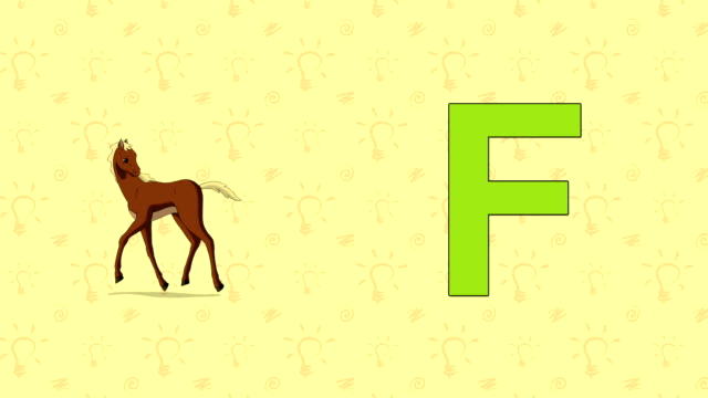 Foal. English ZOO Alphabet - letter F video