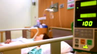Focus in: Hospital Patient with Saline Solution Volumetric Infusion Pump video