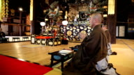 Focused Buddhist Monk video
