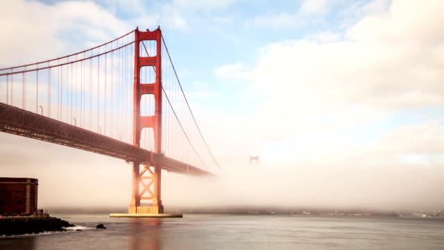 Fog Covering the Golden Gate Bridge video