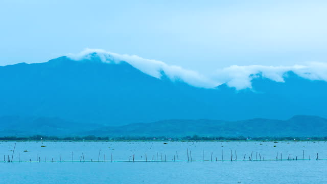 Fog On The Kwan Phayao the Lake,Timelapse video