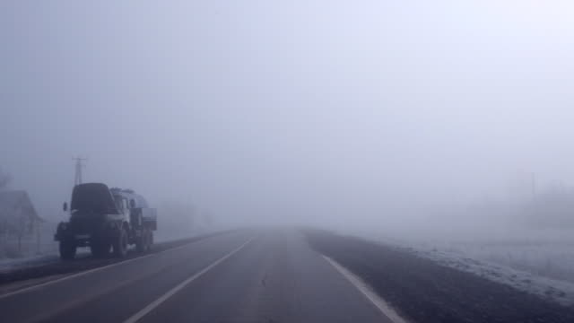 Fog on the road video