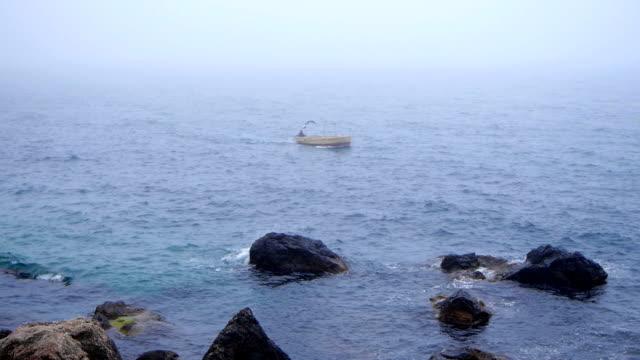Fog on the sea in summer,Crimea video
