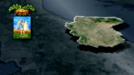 Foggia's province whit Coat of arms animation map video