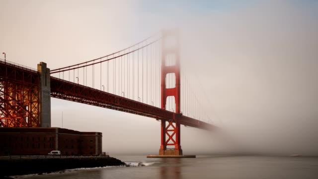 Foggy Golden Gate Bridge In Sn Francisco video