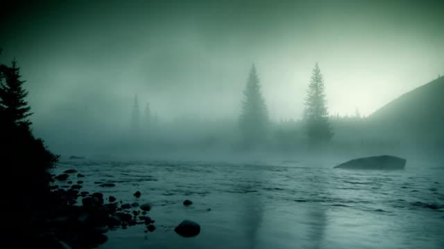 Foggy river HD LOOP video