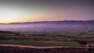 Foggy Sunset in California Wine Country - Day to Night Time Lapse video