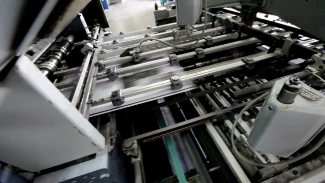folding machine HD CRANE SHOOT video
