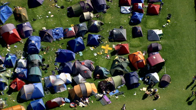 Folk Festival Near Rorvig  - Aerial View - Zealand, Odsherred Kommune, Denmark video