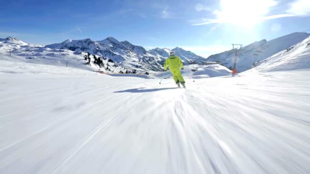 following alpine skier video