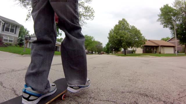 Following Skateboard on Street video