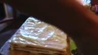 food decorated preparation chiffon sweet layer cake lifestyle video