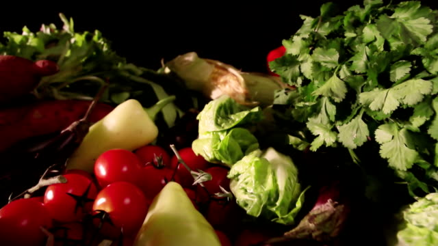 Food, fresh vegetables    FO video