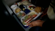 Food in airplane video