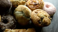 Food, muffins and donuts   FO video