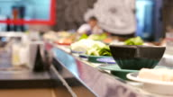 Food on conveyor belt video