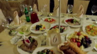 Food on the table. video
