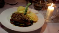 Food restaurant steak candle video
