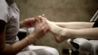 Foot massage at the spa video