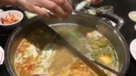 4K footage : Buffet Suki Shabu-Shabu in Thailand video