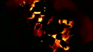 footage close up Charcoal fire video
