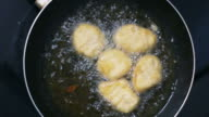 HD footage, Homemade Batter-fried chicken nuggets in kitchen. video