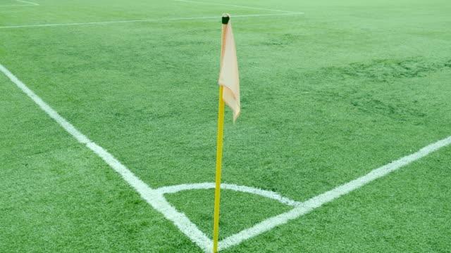 Footage of a football corner flag video