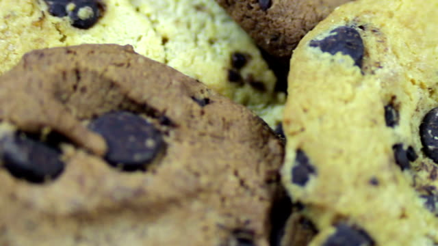 footage of homemade chocolate chip cookies video